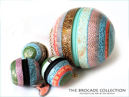 Polymer-Clay-Brocade-Collection-Purses-Iris-Mishly